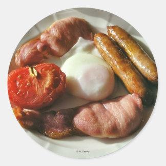 Pegatina irlandés del desayuno
