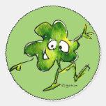 Pegatina irlandés del dibujo animado del rollo 01