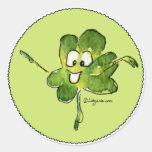 Pegatina irlandés del dibujo animado del rollo 02