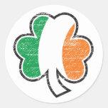 Pegatina irlandés del trébol