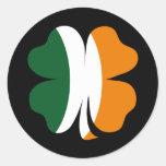 Pegatina irlandés del trébol 4Leaf