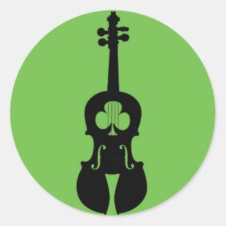 Pegatina irlandés del violín