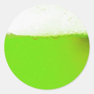 Pegatina irlandés verde de la cerveza
