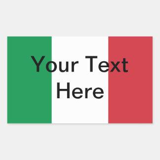 Pegatina italiano de la bandera - Customizeable