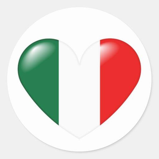 Pegatina italiano del corazón - Cuore Italiano