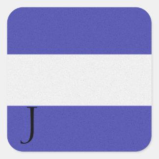 Pegatina J del alfabeto de la bandera de señal