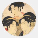 Pegatina japonés conocido del arte de tres