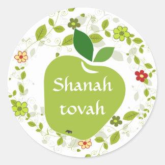 Pegatina judío del saludo del Año Nuevo