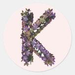 Pegatina K de la flor
