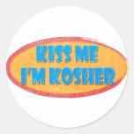 Pegatina kosher del humor