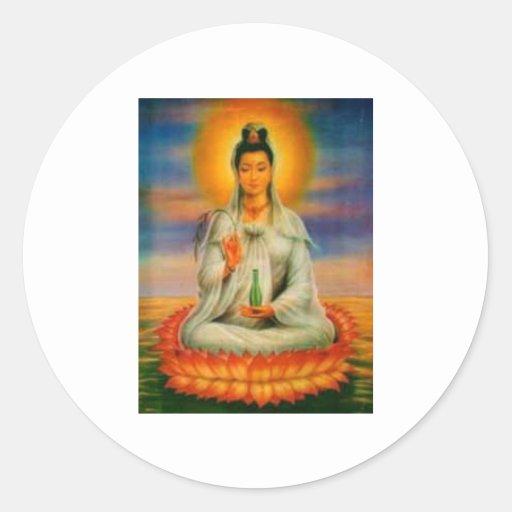 pegatina kuan del yin