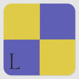 Pegatina L del alfabeto de la bandera de señal