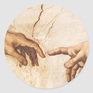 Pegatina - la creación de Adán