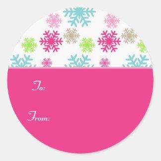 Pegatina Labels//Pink de la etiqueta del regalo
