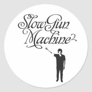 Pegatina lento de la máquina del arma