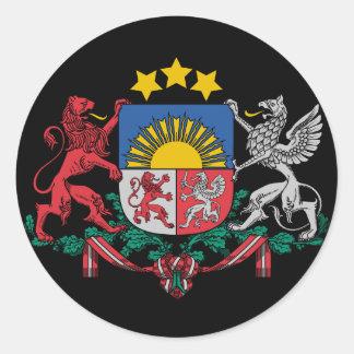 Pegatina letón del escudo de armas