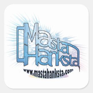 Pegatina lg del logotipo de Masta Hanksta