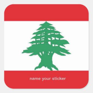 Pegatina libanés de la bandera de Líbano