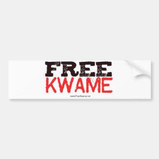 Pegatina libre de Kwame del funcionario Etiqueta De Parachoque