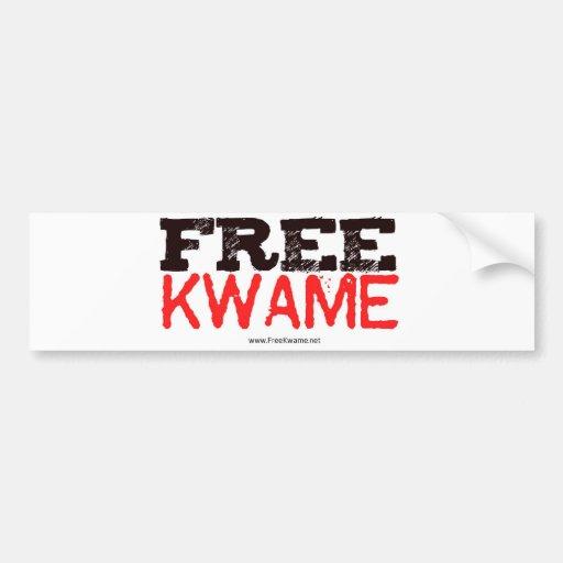 Pegatina libre de Kwame del funcionario Pegatina Para Auto