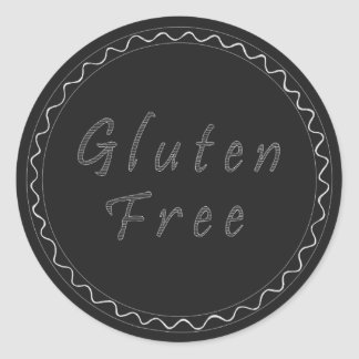 Pegatina libre de la pizarra del gluten
