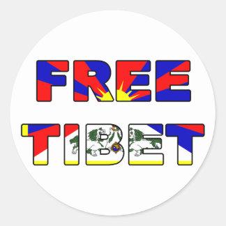 Pegatina libre de Tíbet