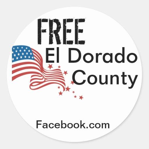 Pegatina libre del condado de El Dorado
