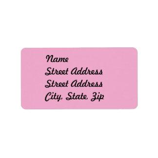 Pegatina ligero de la dirección del rosa en etiquetas de dirección