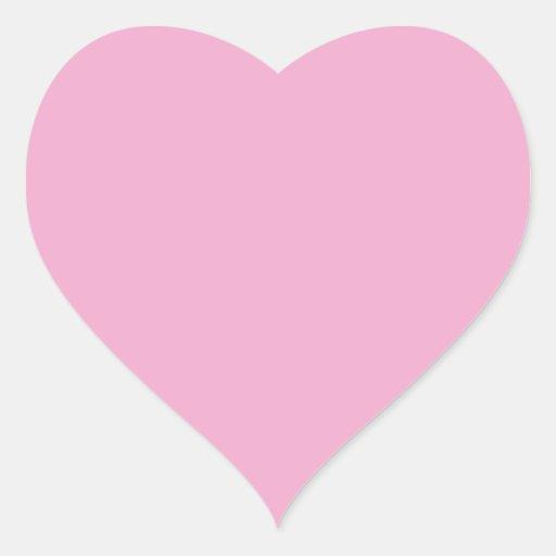 Pegatina ligero del corazón del rosa en colores