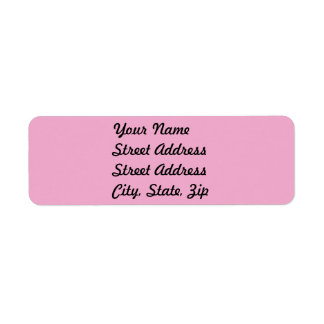 Pegatina ligero del remite del rosa en colores etiqueta de remitente