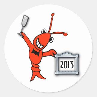 Pegatina lindo 2013 de los cangrejos/de la