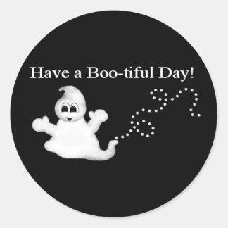 ¡Pegatina lindo de Halloween del fantasma!