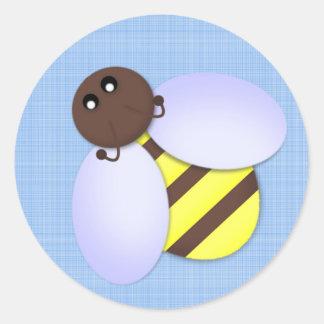 Pegatina lindo de la abeja