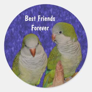 Pegatina lindo de la amistad de los pájaros de los