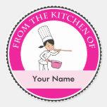 Pegatina lindo de la cocina del cocinero