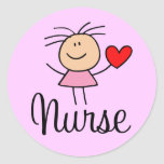Pegatina lindo de la enfermera