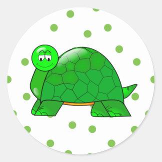 Pegatina lindo de la tortuga