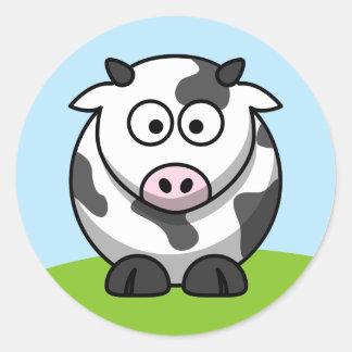 Pegatina lindo de la vaca