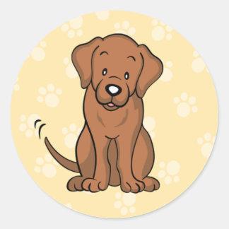 Pegatina lindo de Labrador del perro del dibujo