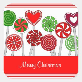 Pegatina lindo de los Lollipops del navidad