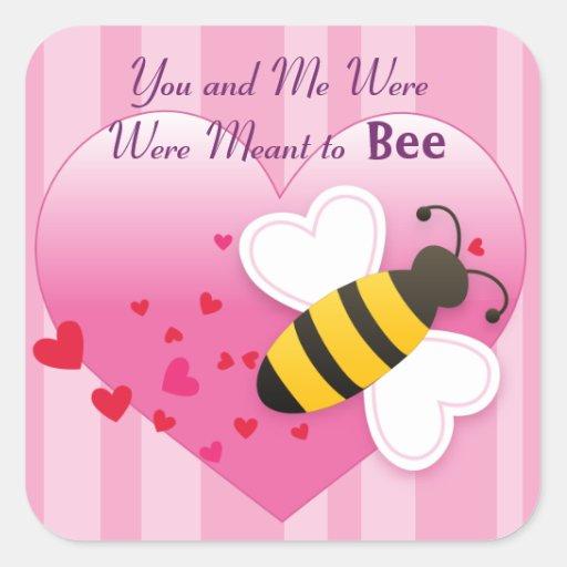 Pegatina lindo del amor de la abeja de la miel