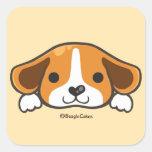 Pegatina lindo del beagle