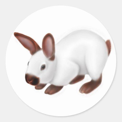 Pegatina lindo del conejito del mascota