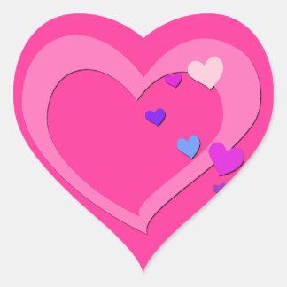 Pegatina lindo del corazón del amor