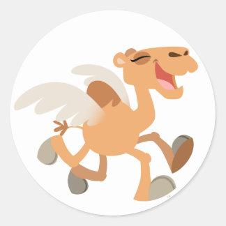 Pegatina lindo del Ir volando-Camello del dibujo