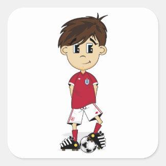 Pegatina lindo del muchacho del fútbol de