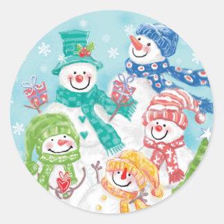 Pegatina lindo del navidad del muñeco de nieve