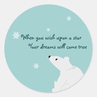 Pegatina lindo del oso polar - personalizable