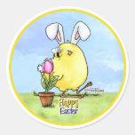 Pegatina lindo del polluelo de Pascua