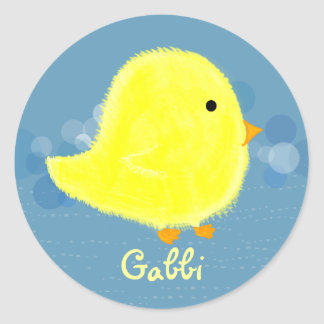 Pegatina lindo del polluelo del bebé de Gabbi